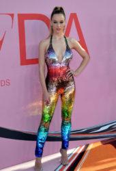 Hannah Ferguson at CFDA Fashion Awards in New York