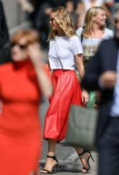 Jennifer Lawrence Arriving at Jimmy Kimmel Live