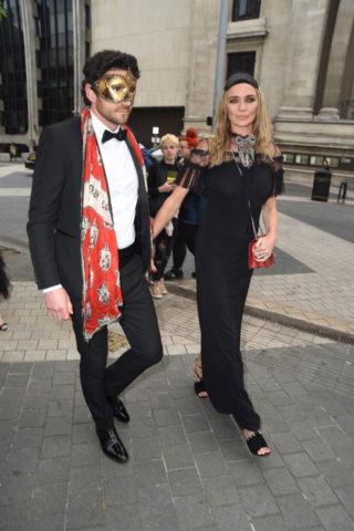 Jodie Kidd at Cash and Rocket Masquerade Ball, London