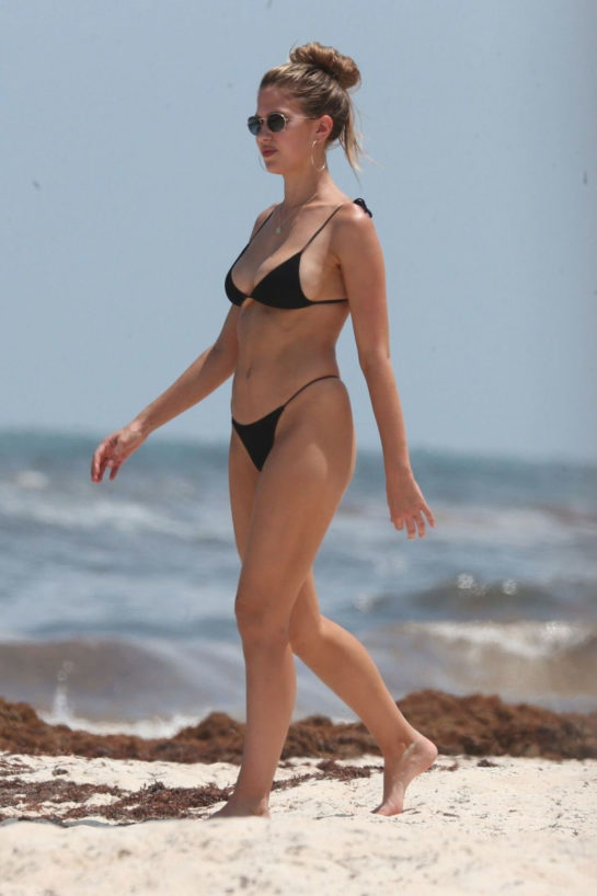 Kara Del Toro in Bikini at a Beach in Tulum