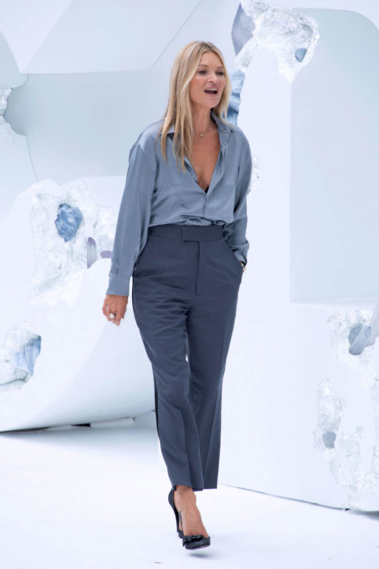 Kate Moss at Dior Homme Menswear Spring Summer 2020 Fashion Show in Paris