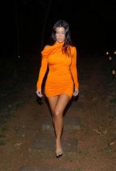 Kourtney Kardashian Head out to dinner in Costa Rica