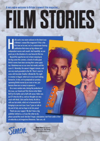 Lily James and Himesh Patel in Film Stories Magazine, June 2019