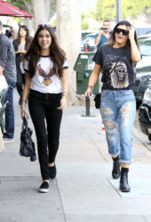 Madison Beer and Kylie Jenner Out and About in West Hollywood