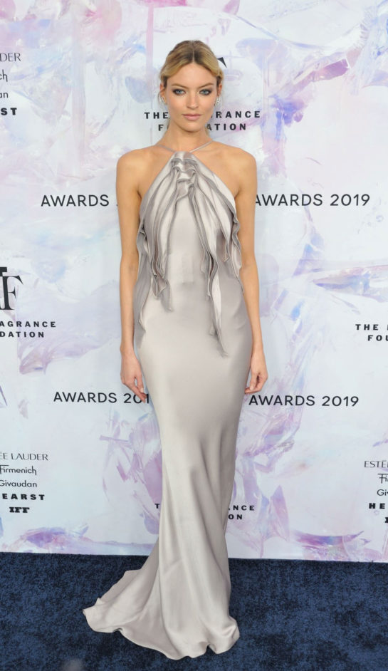 Martha Hunt at Fragrance Foundation Awards in New York