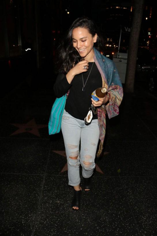 Maya Stojan at Katsuya Restaurant in Hollywood