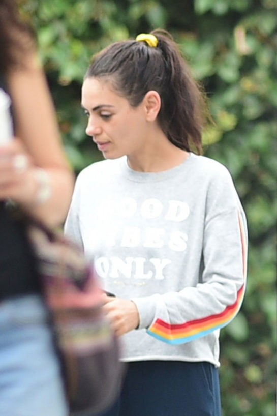 Mila Kunis Leaves Bellacures in Studio City