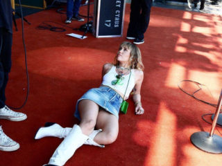 Miley Cyrus Lying on Red Carpet at Primavera Sound in Spain
