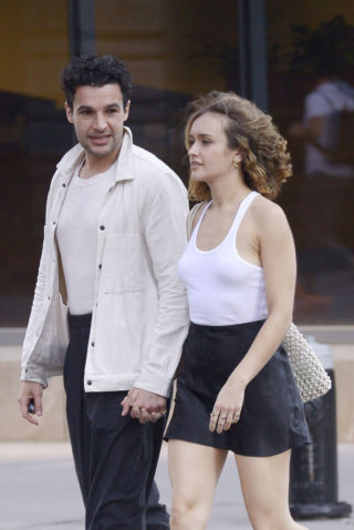Olivia Cooke and Christopher Abbott at Il Buco in New York