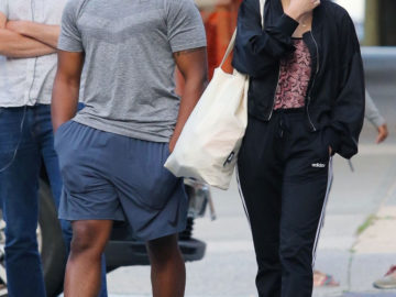 Olivia Cooke and John Boyega on the Set of Naked Singularity in New York