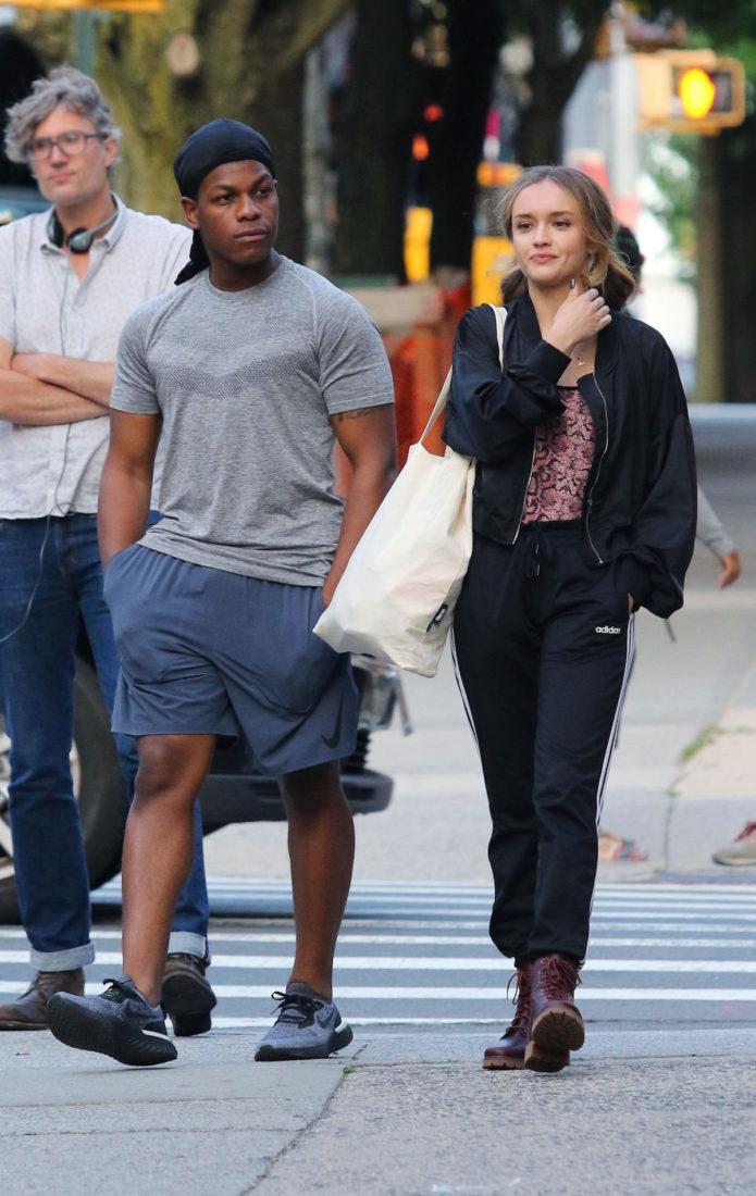 Olivia Cooke and John Boyega on the Set of Naked Singularity in New York