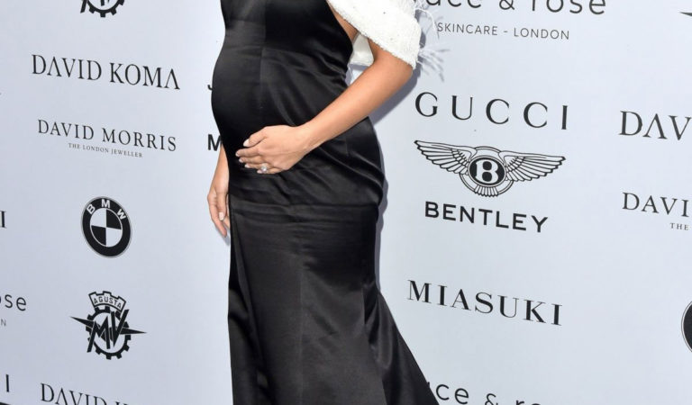 Pregnant Celebrities – Amy Jackson at Cash & Rocket Masquerade Photocall in London