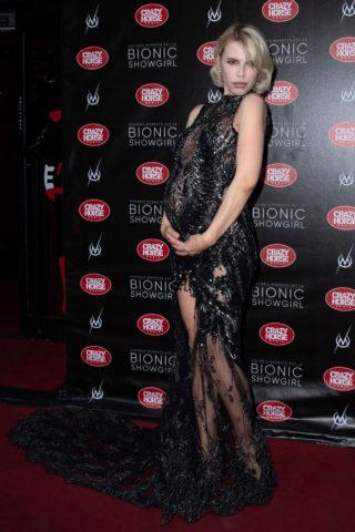 Pregnant Aria Crescendo at Bionic Showgirl Premiere in Paris