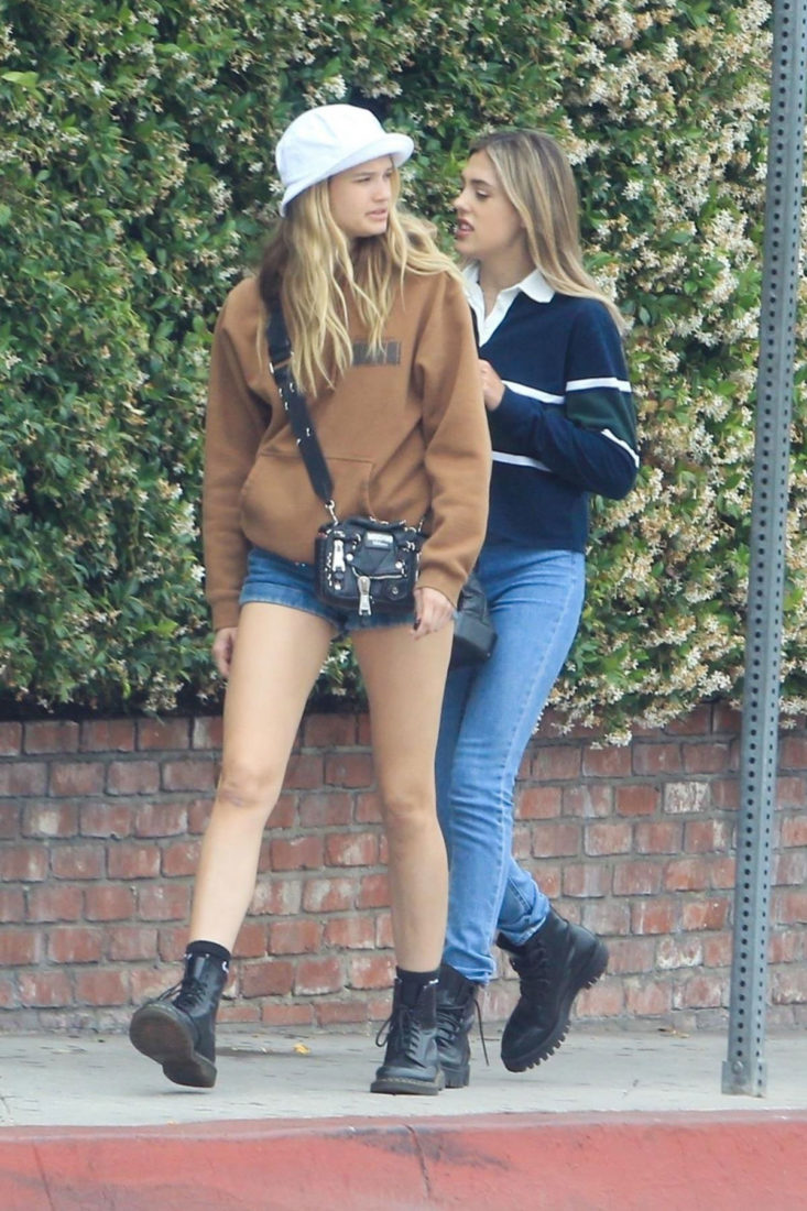 Sistine Stallone and Cayley King at Cha Cha Matcha in West Hollywood