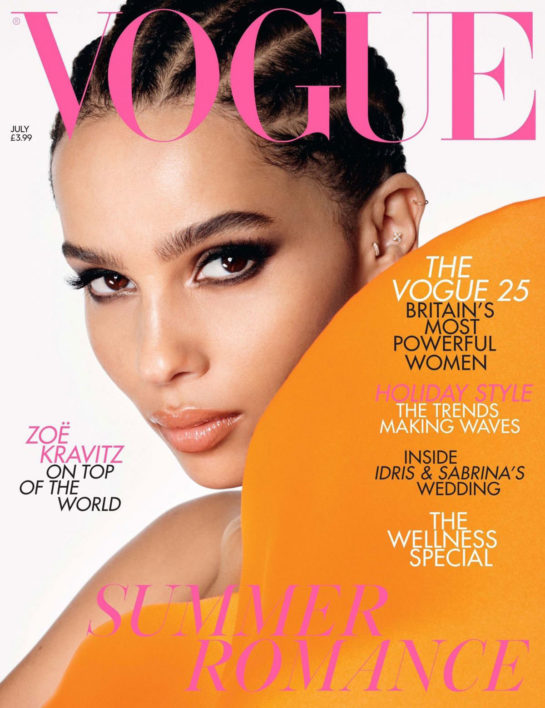 Zoë Kravitz in Vogue Magazine, UK July 2019