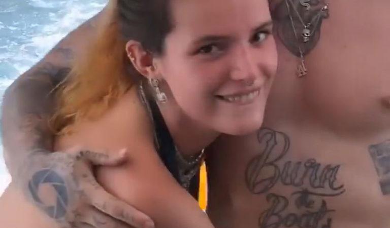Celebrity Social Media – Bella Thorne in Bikini at a Boat, Instagram Pictures