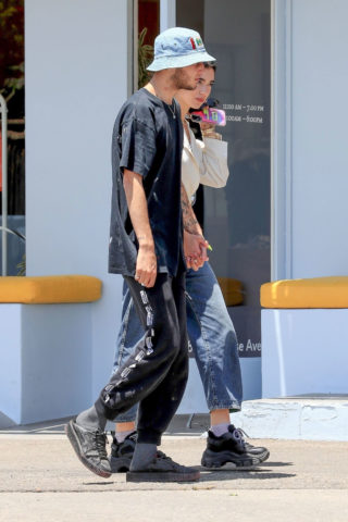 Dua Lipa and Anwar Hadid Out on Melrose Avenue