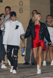 Hailey Baldwin and Justin Bieber Leaves Nobu in Malibu