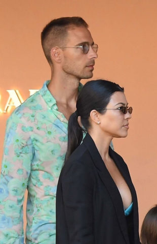Kourtney Kardashian Out in Porto Cervo