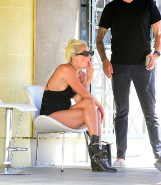 Lady Gaga and Dan Horton at a Restaurant in Los Angeles