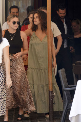 Selena Gomez In Long Summer Dress Out In Rome