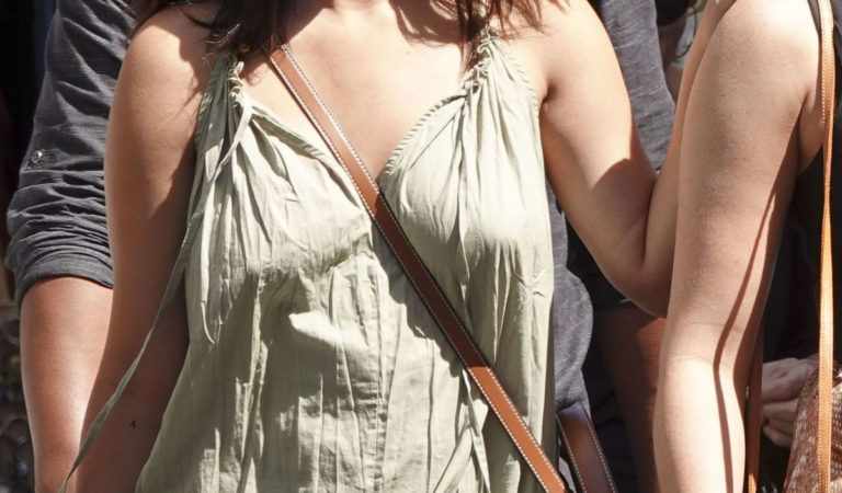 Celebrity Dresses – Selena Gomez In Long Summer Dress Out In Rome