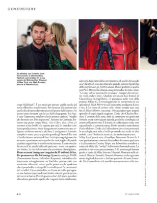 Miley Cyrus in D La Repubblica Magazine, July 2019