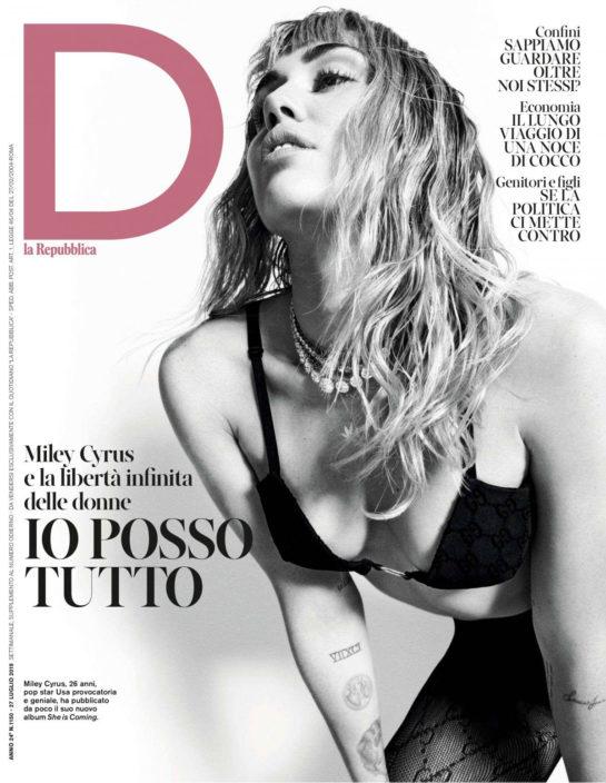 Miley Cyrus in D La Repubblica Magazine, July 2019