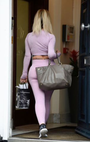 Holly Hagan Out and About in Liverpool