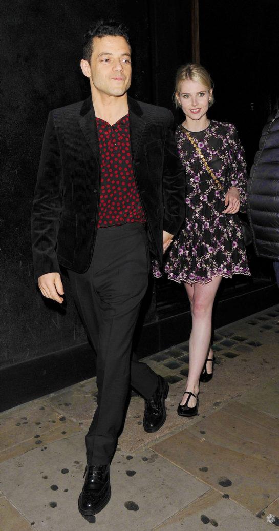 Lucy Boynton and Rami Malek