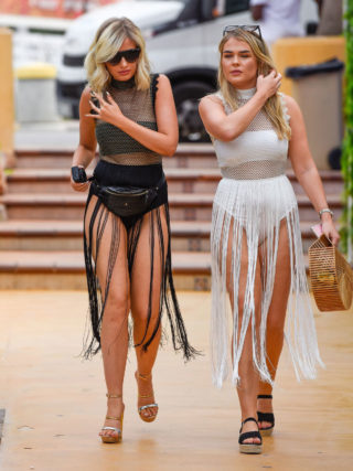 Amy Hart Arriving at O Beach Ibiza