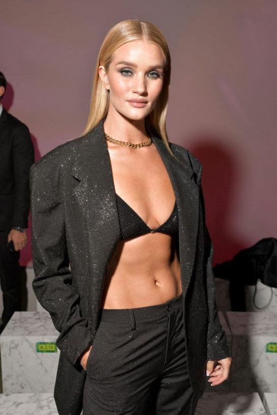 Rosie Huntington-Whiteley at Versace Fashion Show at MFW