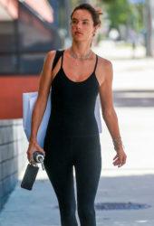 Alessandra Ambrosio in Tights Heading to Pilates in Santa Monica