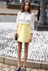 Alexa Chung at Miu Miu Spring/Summer 2020 Show at Paris Fashion Week