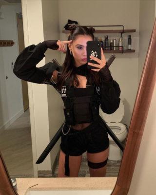 Alexis Ren Getting Ready for Halloween Instagram photos