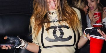 Bella Thorne Night Out in Los Angeles Instagram photos
