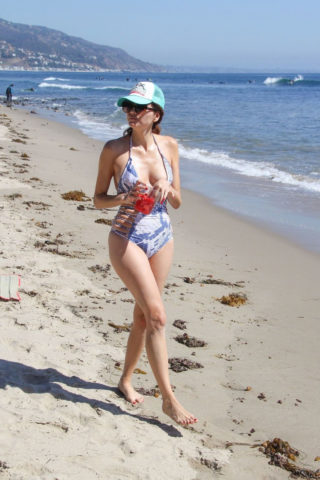Blanca Blanco in Swimsuit at a Beach in Malibu