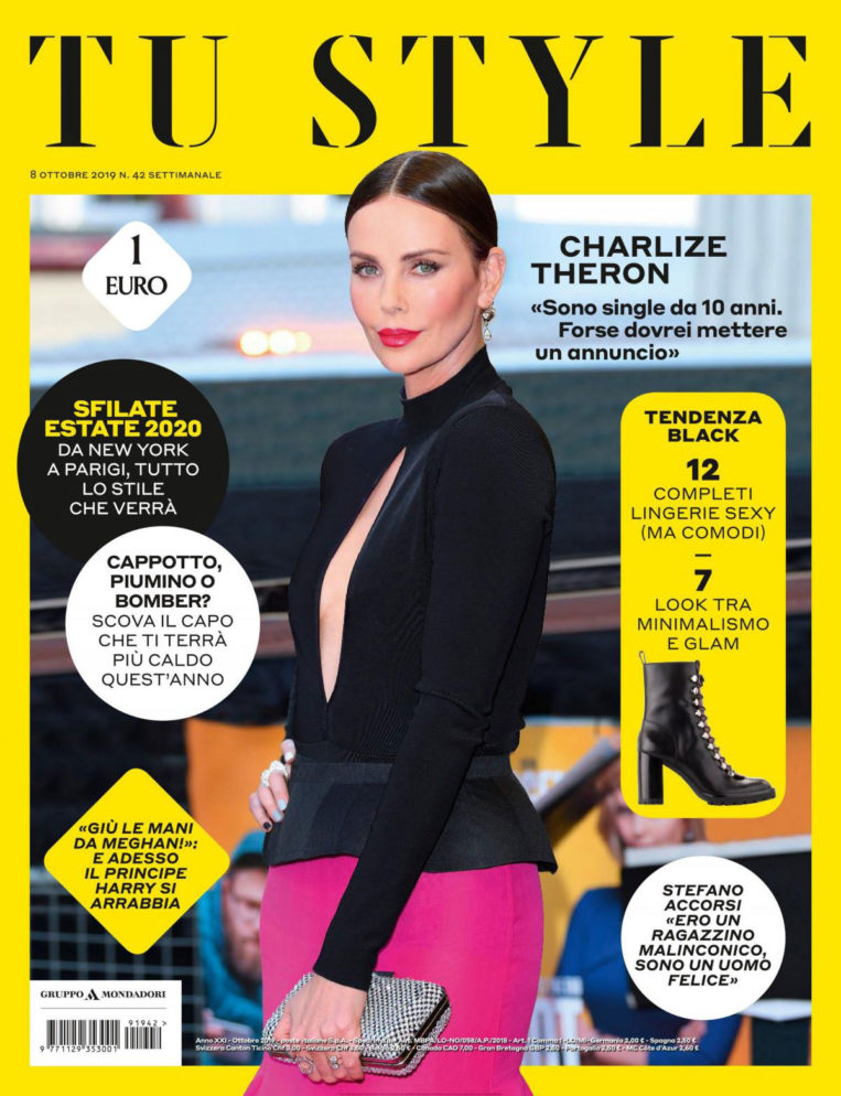 Charlize Theron in Tu Style Magazine, October 2019