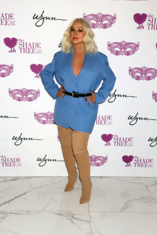 Christina Aguilera Honored at Mask Off Gala in Las Vegas