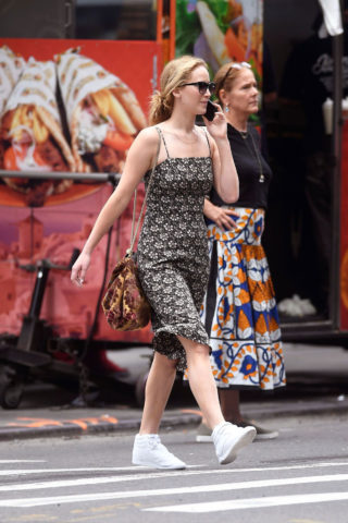 Jennifer Lawrence Shopping at Bergdorf Goodman Store in NYC