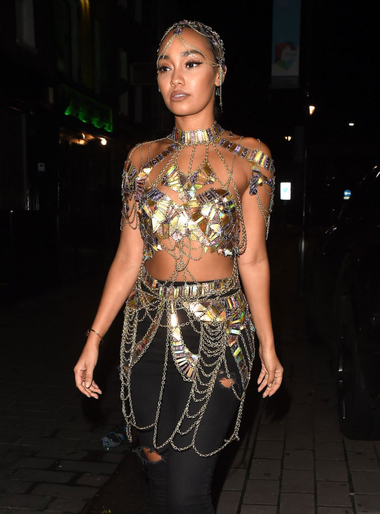 Leigh-Anne Pinnock Arrives at Duo Club in London