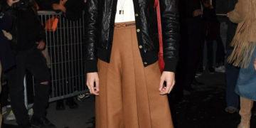 Margaret Qualley Arrives at Celine Show at Paris Fashion Week