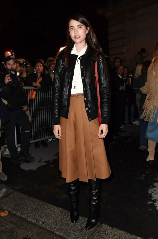 Margaret Qualley Arrives at Celine Show at Paris Fashion Week