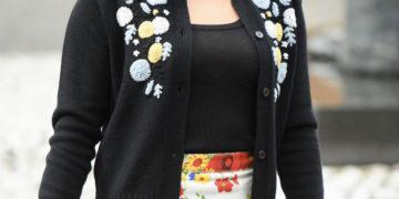 Noee Abita at Miu Miu Spring/Summer 2020 Fashion Show in Paris