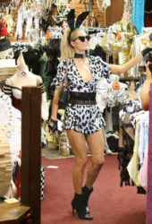 Paris Hilton Shopping at Trashy Lingerie in Los Angeles