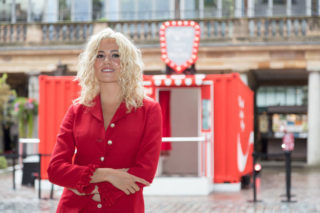 Pixie Lott at Coca-Cola's Ultimate Photo Booth in London