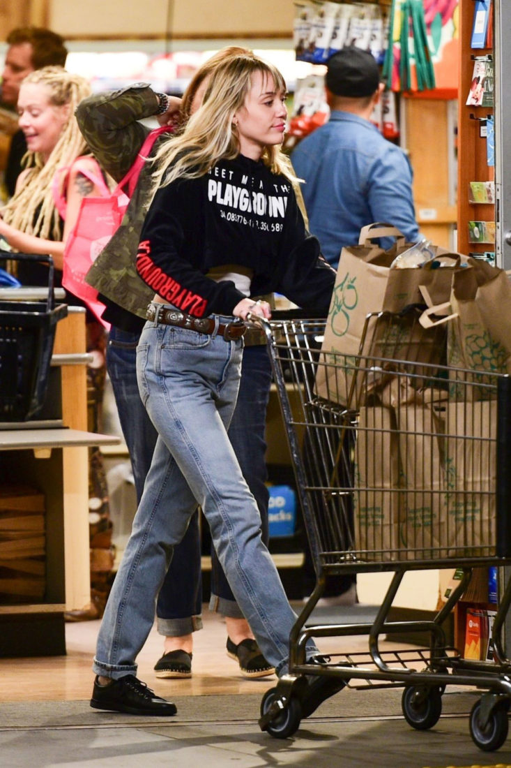 Miley Cyrus Shopping in Sherman Oaks