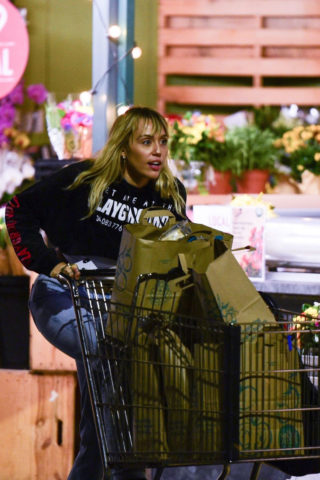Miley Cyrus Shopping in Sherman Oaks