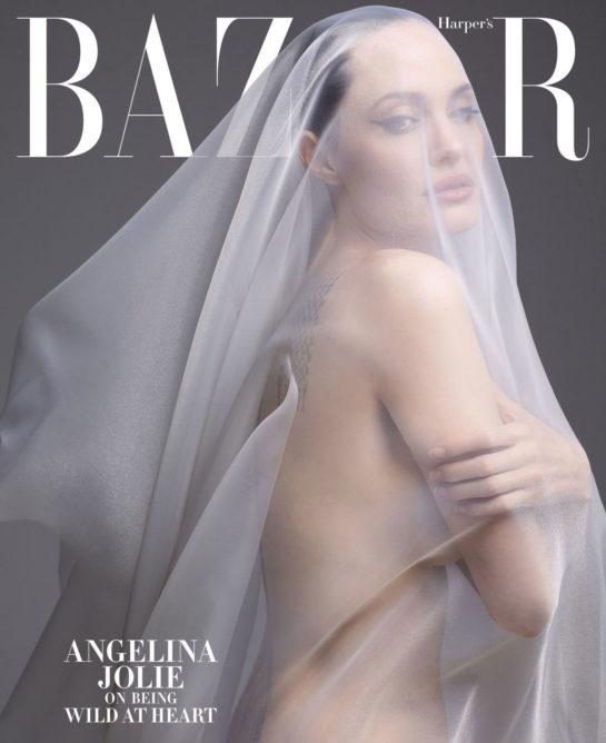 Angelina Jolie in Harper's Bazaar Magazine, December 2019/January 2020