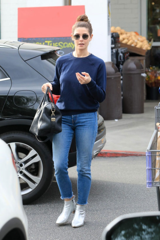 Ashley Greene Shopping for Groceries in Beverly Hills